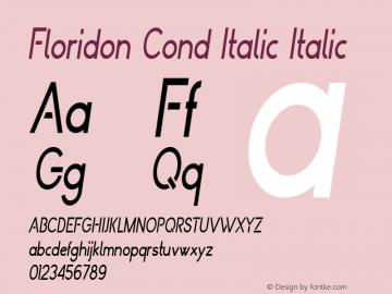 Floridon Cond Italic