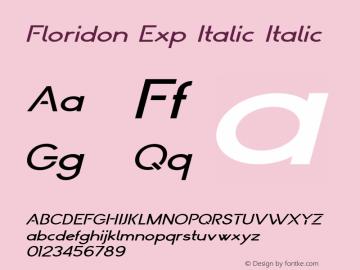 Floridon Exp Italic