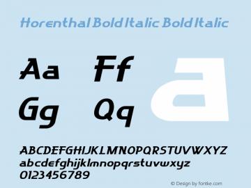 Horenthal Bold Italic