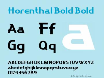 Horenthal Bold