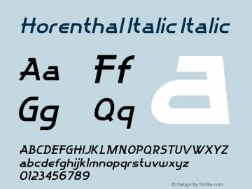 Horenthal Italic