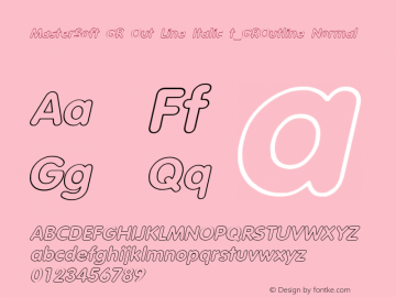 MasterSoft GR Out Line Italic