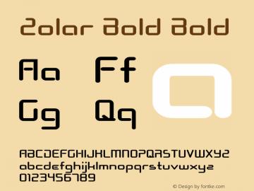 Zolar Bold