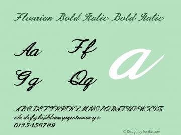 Flourian Bold Italic