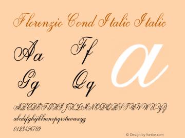 Florenzio Cond Italic