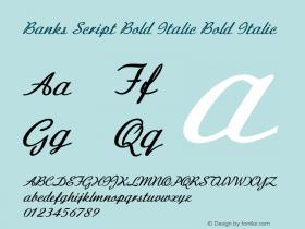 Banks Script Bold Italic
