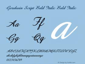 Gershwin Script Bold Italic