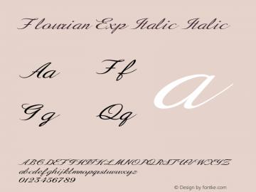 Flourian Exp Italic