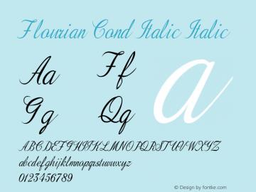 Flourian Cond Italic