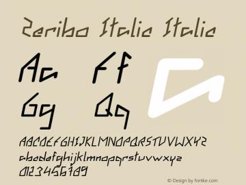 Zeribo Italic