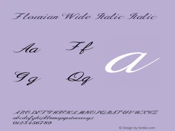 Flourian Wide Italic