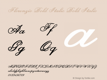 Florenzio Bold Italic