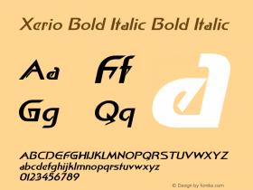 Xerio Bold Italic