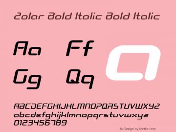 Zolar Bold Italic