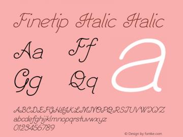 Finetip Italic