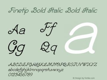 Finetip Bold Italic