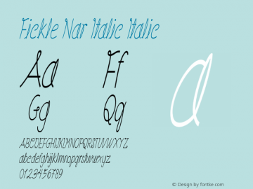 Fickle Nar Italic