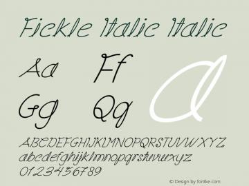Fickle Italic