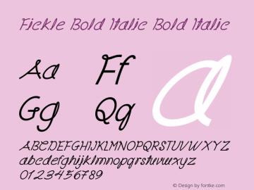 Fickle Bold Italic