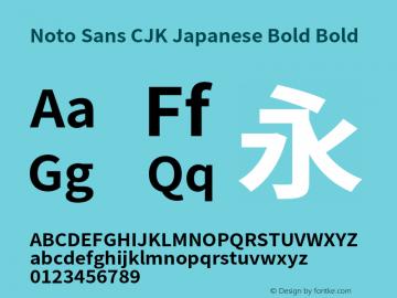 Noto Sans CJK Japanese Bold