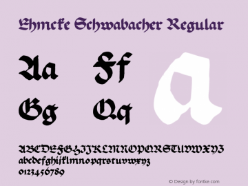 Ehmcke Schwabacher