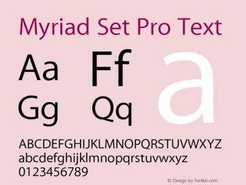Myriad Set Pro