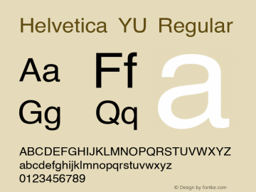 Helvetica YU