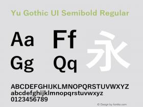 Yu Gothic UI Semibold