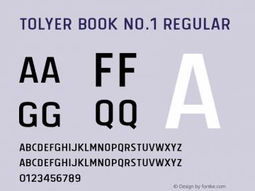 Tolyer Book no.1