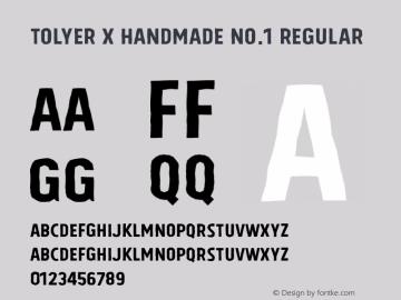 Tolyer X Handmade No.1