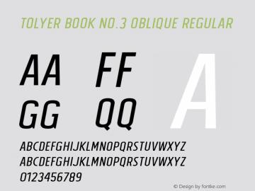 Tolyer Book no.3 Oblique
