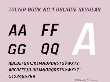 Tolyer Book no.1 Oblique