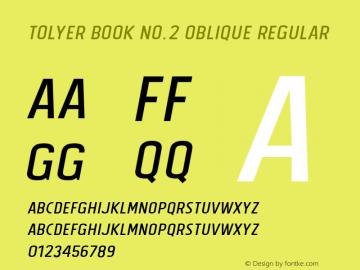 Tolyer Book no.2 Oblique
