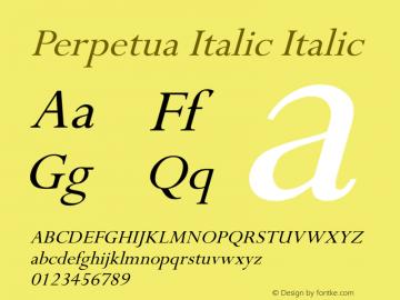 Perpetua Italic