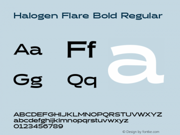 Halogen Flare Bold
