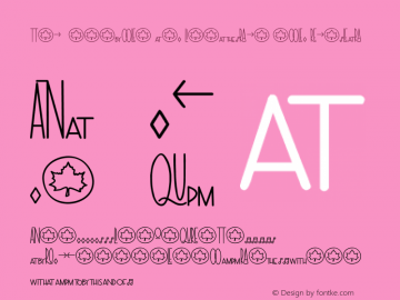 The Symbols and Ligatures Bold