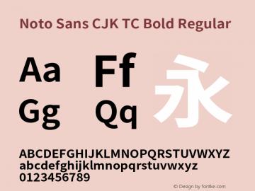 Noto Sans CJK TC Bold