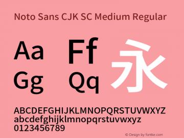 Noto Sans CJK SC Medium