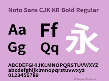 Noto Sans CJK KR Bold