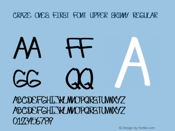 Craze One's first font UPPER SKINNY