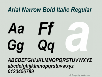 Arial#20Narrow#20Bold:-Font Family Search-Fontke com For Mobile