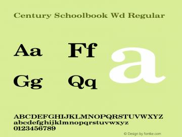 Century Schoolbook Wd