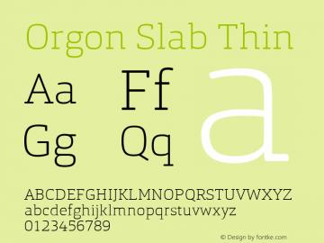Orgon Slab