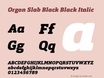 Orgon Slab Black