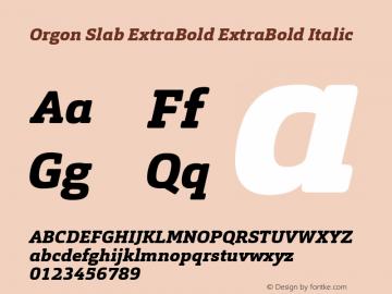 Orgon Slab ExtraBold