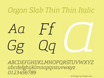 Orgon Slab Thin