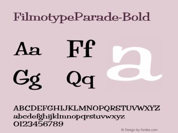 FilmotypeParade-Bold