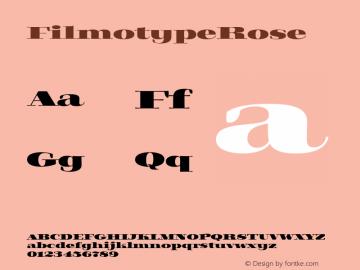 FilmotypeRose