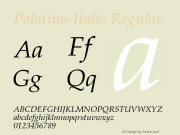 Palatino-Italic
