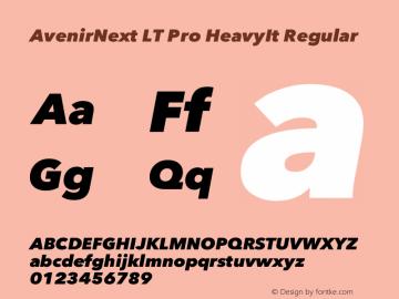 AvenirNext LT Pro HeavyIt